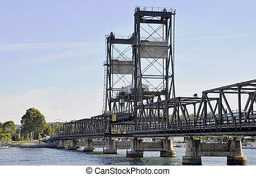 Batemans bay bridge - landmark bridge leading across the...