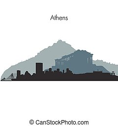 Athens vector skyline - Detailed vector skyline of Athens...
