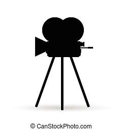 camera old in black color illustration