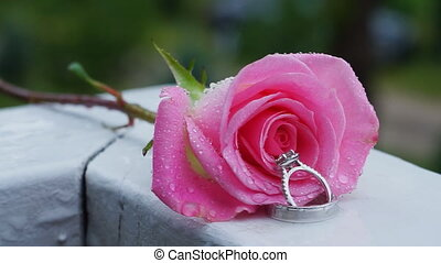 Rose water drops ring Desire, Love and Valentine's Day