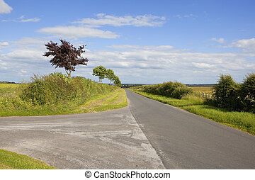 yorkshire wolds country road - a country highway in the...