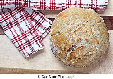 Artisan Bread, homemade, top view - Homemade Artisan bread,...