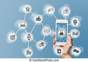 Digital mobile online marketing - Digital online marketing...