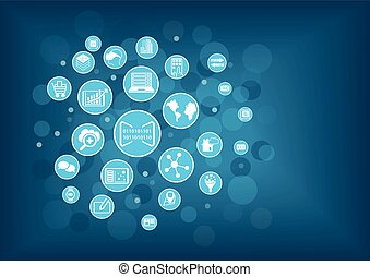 Concept of digitization of business. Vector illustration of...