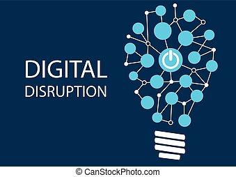 Digital disruption concept. Vector illustration background...