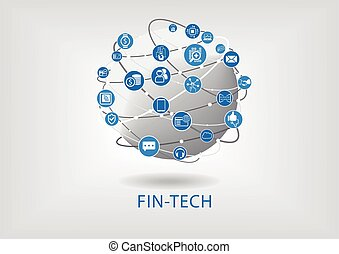 Vector infographic of fin-tech (financial technology)...