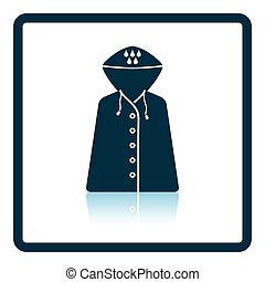 Raincoat icon. Shadow reflection design. Vector...