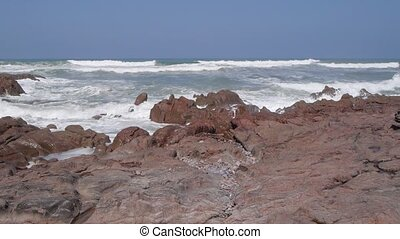 Sea waves in Morocco, Africa