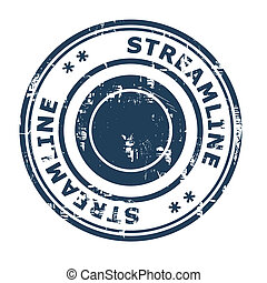 Streamline business concept rubber stamp isolated on a white...