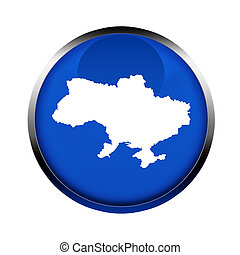 Ukraine map button in the colors of the European Union