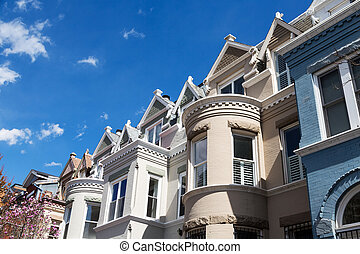 Row houses in Washington D.C.