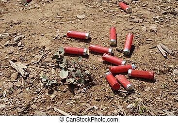 Shotgun shells - Spent shotgun shells