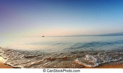 sunset sea beach 4k