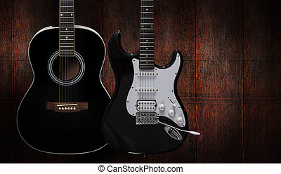Acoustic and electric guitar - Acoustic and electric guitar...