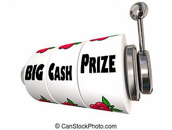 Big Cash Prize Lottery Jackpot Winnings Slot Machine 3d...