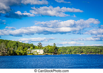 Lake Winnipesaukee in Merideth, New Hampshire