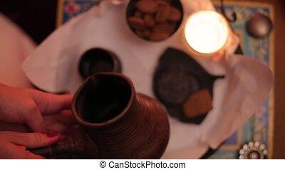 Tea ceremony in spa salone