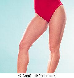 Closeup of lifeguard lifesaver woman. - Closeup of lifeguard...