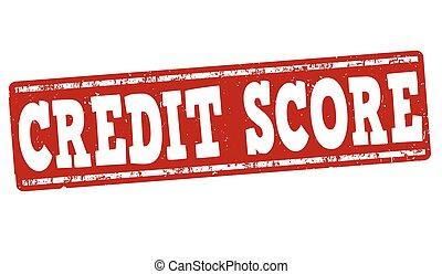 Credit score stamp - Credit score grunge rubber stamp on...
