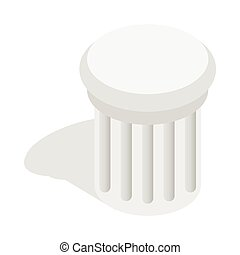Classical column icon, isometric 3d style
