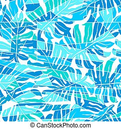Blue abstract surf pattern in a seamless pattern