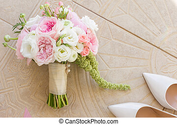 wedding attributes in detail, bouquet