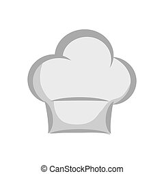 Chefs hat icon Kitchen and menu design Vector graphic -...