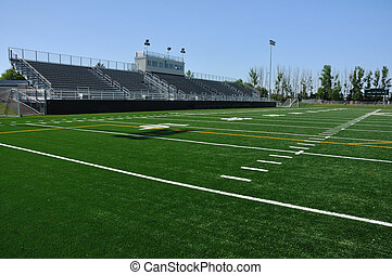 American High School Football Stadium - Bleachers of...