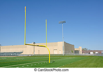 Goal Posts on American Football Field
