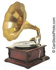 viejo, gramófono