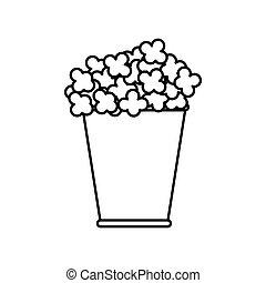 Pop corn icon. Food design. Vector graphic - Food concept...