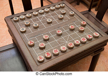 Chinese chess and chessboard,they are Admiral Cannons...
