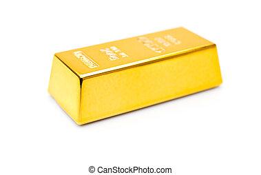 blanco, pedazo, barra, Plano de fondo, oro