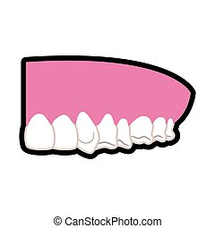 Teeth and mouth icon Dental care design Vector graphic -...