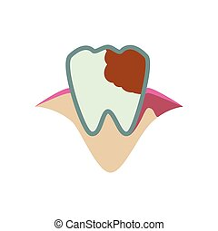 Tooth icon Dental care design Vector graphic - Dental care...