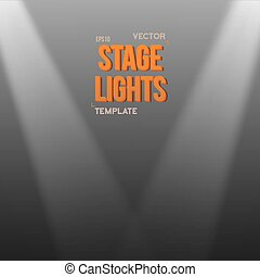 Vector Transparent Light Effect. Bright Stage Light Effect