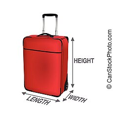 Air travel checked and cabin baggage. Hand luggage concept