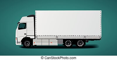 Truck transport - fast delivery concept