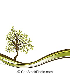Tree abstract background, vector illustration