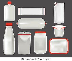 Food packaging. Mock up - Vector set mock up. Food packaging...