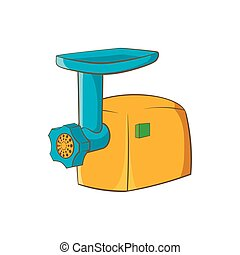 Electric grinder icon, cartoon style - Electric grinder icon...