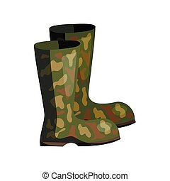 Rubber boots Vector Clip Art Royalty Free. 1,622 Rubber ...