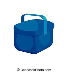 Cooler bag icon, cartoon style - Cooler bag icon in cartoon...