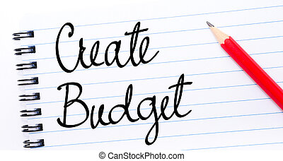 Create Budget written on notebook page
