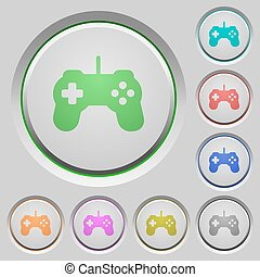 Game controller push buttons - Set of color Game controller...