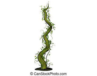 Beanstalk - Isolated 3D Illustration of a bean stalk