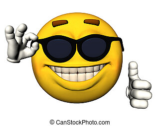 Cool emoticon - Illustration of a cool emoticon