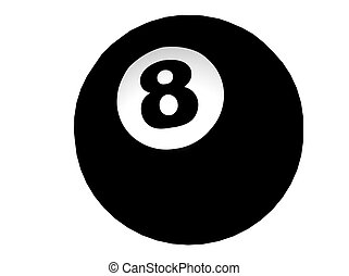 Eight Ball - 3D Illustration of an eight-ball