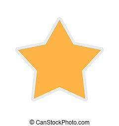 gold star icon. Insignia design. Vector graphic