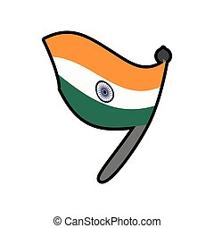 Flag icon Indian Culture design Vector graphic - Indian...